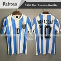 1986 Retro Version Argentinien Fußball Trikot 86 Maradona Kurzarm Fußball Trikot 78 78 Maradona Vintage 1978 Argentinien Retro Soccer Jerse