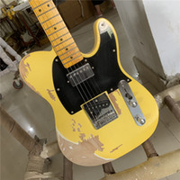 Бесплатная доставкаFD Relic Candmade Electric Гитара Cream Color Humbugrucker Pickups Pickups Heirloame Aged Collector Limited Tele Guitars Guitarra
