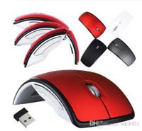 Hotsell 2019 Новая мода 2.4G Беспроводная мышь складная мышь компьютера Mini Travel Notebook Mute мышь USB приемник для портативных ПК