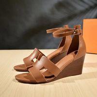 Горячие Продажа-летние горячие женщины сандалии дамы Sexy высокой пятки клинья обувь моды случайные круглый носок платформы обувь Женские свадебные туфли