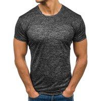 맨 티 남성 의류 짧은 소매 캐주얼 O 목 면화 피트니스 t- 셔츠 스포츠웨어 W3 실행 패션 남성 T 셔츠 여름 스포츠