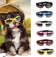 6 ألوان طوي كلب نظارات متوسطة كبيرة نظارات الكلب حيوان أليف نظارات للماء الكلب نظارات حماية نظارات uv شحن مجاني