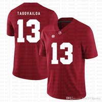 ألاباما قرمزي المد 13 Tua Tagovailoa American Football Jersey 10 Tom Brady 26 Saquon Barkley 97 Nick Bosa Jerseys Red