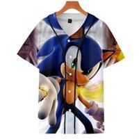Anime Sonic The Hedgehog 3D impresso Baseball T Shirt Women / Men streetwear Hip Hop manga curta soltas T-shirt do basebol Jersey