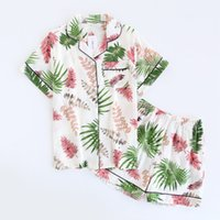 Pijamas de algodón para mujer pijamas de manga corta para mujer ropa de dormir lindo pijama de dibujos animados conjunto pijama corto pijama de algodón