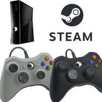 Venta caliente del regulador del juego para PC alambre Gamepad Negro Xbox 360 USB para XBOX 360 Joypad Joystick de accesorios para el ordenador portátil PC de la computadora de DHL
