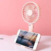 Desktop-Mini-Ventilator wiederaufladbare USB Hand Sommer im Freien beweglichen Telefon-Standplatz-Ventilator für Home Office OOA8010