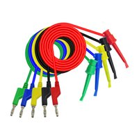 1M multimeter pen extension test hook clip with 4mm shrouded plug,flexiable silicone cable,500V/5A