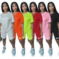 Designer Zweiteiler Anzug Hosen Set Short Hülsehoodies Bodycon Frauen-Sommer-Kleidung Lässige Jogger Anzug Plus Size sechs Farben