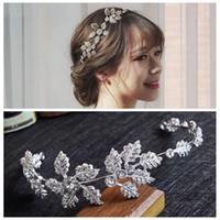 Yeni Gelin Düğün Taç Çiçek Yaprak Alaşım Saç Bandı Selicate Basit Mori Şapkalar Gelinlik Aksesuarları headpieces