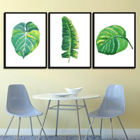 Nordic Posters Nursery HD Prints For Baby Room Green Plant Leaf Wall Artwork Pittura su tela Immagine Kids Bedroom Decoration