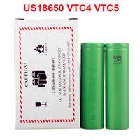 US18650 VTC5 2600mAh VTC4 2100mAh 3.7V 리튬 배터리 전자 담배에 대 한 외부 배터리 기계적 mods vape mod vape 펜 건조 허브 기화기