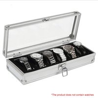 6 Grids Aluminum Alloy Suitcase Watch Display Storage Box Watch Organizer Case Specifications of 33 x12. 3 x6. 3