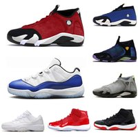 nike air jordan retro 14 11 14 Gym 14s Red Shoes 11s de Basquete Masculino Womens Grafite Concord Prata metálica retro Deserto Areia Doce Hiper Real Sport Shoes