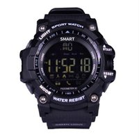 EX16 스마트 시계 블루투스 방수 IP67 Smartwatch Relogios 보수계 스톱워치 손목 시계 스포츠 시계 아이폰 안드로이드 전화 시계
