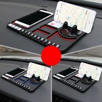Приборной панели автомобиля Антипробуксовочная Мат Pad GPS держатель мобильного телефона стенд номерного знака Аксессуары GDeals