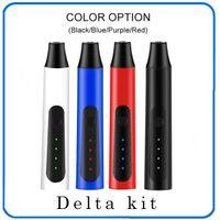 DELTA 초본 기화기 펜 키트 2200mah 온도 제어 드라이 허브 기화기 모 허브 펜 키트 4 색 무료 배송