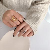 INS Minimalism Cubic Ringe Retro Kreis-Ring-Art- Hip Hop Ring Beliebte Paar Geschenk Ring heißer Verkaufs-Partei Schmuck