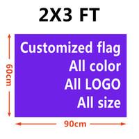 Individuelle 2x3 ft Flagge Banner 60x90 cm Sports Party Club Geschenk Digital gedruckte Indoor Outdoor Polyester Werbung Hanging Flaggen und Banner!