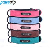 S- 2XL Pet Dog Collar Custom Personalized Leather Dog Collars...