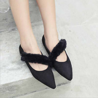 2019 Women Flats Metal Buckle Pointed Toe Flat Shoes Women L...