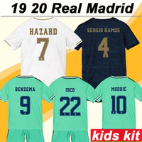 19 20 Real Madrid Hazard Kids Kit Soccer Jerseys New MODRIC ...