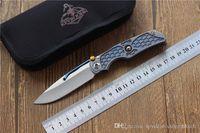 Кевином джон Tilock открытый Flipper Складной нож Titanium ручка M390 лезвия Tactical выживания кемпинга Ножи EDC инструменты, свободная перевозка груза