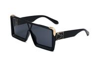 Uma peça-forma da superfície Men Sunglasses Verão Sun Óculos Mulheres Moda OVERSISE 3 cores óculos de praia Estilos populares Ladies UV400 gafas de