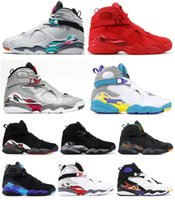 New 8 South Beach Bugs Reflexivo Coelho Silver Tinker Raid Aqua Sapatos de Basquete Homens 8 s Vday Playoff Chrome 3 Turfa Sneakers Com Caixa