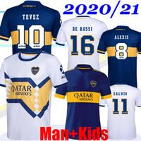 2020 2021 Boca Juniors Soccer Jersey Casa Away Away 20 21 Boca Juniors Tevez Maradona Moura Abila Reynoso de Rossi JRS Camicia da calcio sportiva