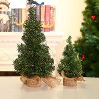 20 / 30CM لطيف البسيطة شجرة عيد الميلاد سطح المكتب الخضراء الاصطناعي شجرة عيد الميلاد حفلة عيد الميلاد الديكور الجدول الصنوبر الكتان الصغيرة شجرة DBC VT0852