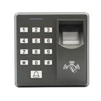 소프트웨어 지원 키패드 비밀 번호 비밀 번호 찾기없이 생체 인식 독립형 지문 액세스 제어 및 RFID ID 카드 wiegand26 출력 MF100