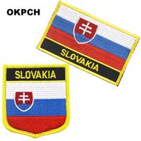 깃발 패치 국기 패치 슬로바키아 자수 철 의류를위한 DIY 장식 PT0164-2