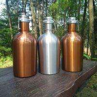 1.5L 2L 2.5L البيرة هادرر المنزل تخمير برميل النبيذ القدح زجاجة المياه 18/8 الفولاذ المقاوم للصدأ جرة واحدة أو مزدوجة الجدار المشروبات وعاء BPA غطاء سوينغ مجانا