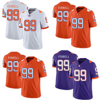 NCAA #99 Clelin Ferrell Jersey Mens Lady Youth Clemson Tiger...