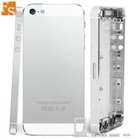 Boîtier complet pour Apple iPhone 5 5S SE Retour Housse de batterie de la batterie arrière boîtier de boîtier de boîtier moyen avec pièces de rechange de câbles flexibles