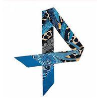 Estampado de mariposa de leopardo 2019 Nueva bufanda delgada Bufanda de seda para mujer Diseño de marca Foulard Moda para mujer Bufanda al por mayor