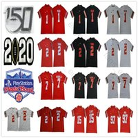 2021 NCAA Ohio State Buckeyes Justin Fields Jersey # 1 OSU 2 Chase Young JK Dobbins Elliott Bosa Teugue 150th Fiesta Bowl 축구 유니폼