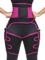 3-in-1 High Waist Trainer Oberschenkel Trimmer-Hüfte-Vergrößerer Yoga Fitness Gewicht Kolben-Heber Abnehmen Stützgurt Hip Enhancer Shapewear für Frauen