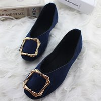 New Flat Bottom Women Shoes Shallow Mouth Suede Casual Shoes...