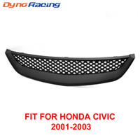 Ny Racing Car Front Grill ABS Grills Grille For Honda Civic 2001-2003 Typ R Black TT101067