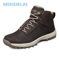MIXIDELAI Brand New Fashion Pu-leder Männer Stiefel Komfortable Männer Schuhe Stiefeletten Kurze Plüsch Winter Warme Schuhe Männer Größe 39 ~ 46