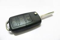 100pcs 3つのボタンビートル/キャディー/イオス/ゴルフ/ジェッタ/ポロ/シロッコ/ティグアン/トゥーラン/ UPのためのブランク車のキーリモコンのフリップ車のキーのシェルカバーにVW