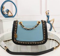 Excellent Quality 23865 Calfskin leather Grosgrain chain Sho...