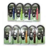 Vertex VV Preheat Battery Starter Kit CO2 350mAh 510 Thread O-Pen Tensione Penna Voltaggio Preriscaldamento regolabile 510 filettatura per cartuccia a olio di cera vaporizzatore
