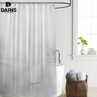 SDARISB Пластиковые PEVA 3d водонепроницаемый занавес ливня прозрачный белый Clear занавес ванной комнаты роскошная ванна занавес с 12pcs Крючки