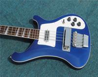 무료 배송 공장 판매 4003베이스 4 스트링베이스 기타 블루 일렉트릭 기타 악기, 무료 배달 전기베이스 기타 Guitara