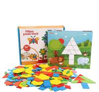 어린이 기하학 퍼즐, 지그 소 퍼즐, 초등학교 나무 장난감, 소년 소녀, 조기 교육, 3-4-5-6 세 퍼즐