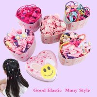 Ragazze dei bambini colorati di gomma elastica di base Bands Accessori per Bambini Anello del legame dei capelli porta corda copricapo Clip 10 Box all-ingrosso