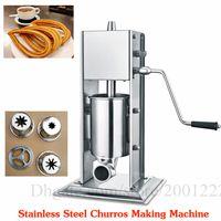 Máquina de llenado de churros manual de acero inoxidable Máquina extrusora de churros española Máquina de llenado de churros de acero inoxidable